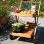 На фото: Сервірувальний стіл Finlay (13178), Дерев'яні столи Garden4You, каталог, ціна