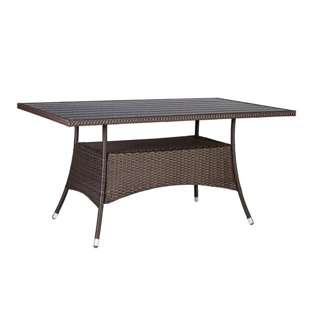 На фото: Прямокутний стіл Savanna (13179), Столи зі штучного ротангу Garden4You, каталог, ціна
