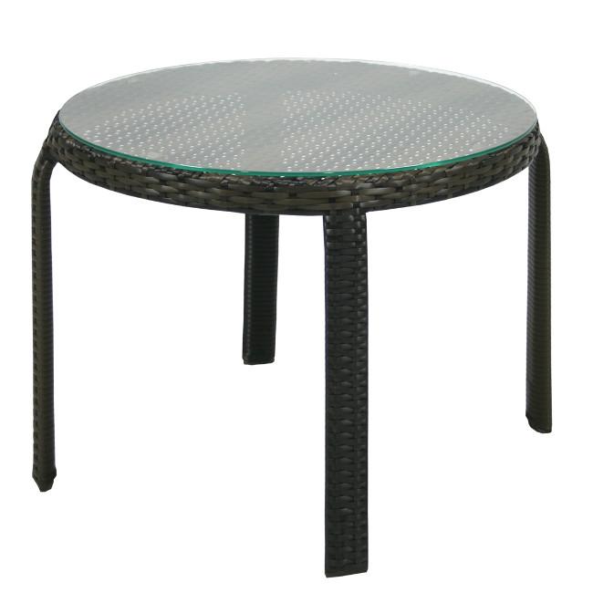 На фото: Допоміжний столик Wicker (13356), Столи зі штучного ротангу Garden4You, каталог, ціна