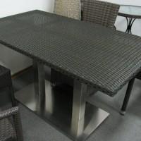 На фото: Обідній стіл Villa (14080), Столи зі штучного ротангу Вілла Ванілла, каталог, ціна
