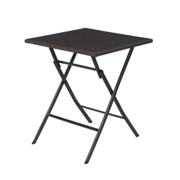 На фото: Складаний стіл Nico (20572), Столи зі штучного ротангу Garden4You, каталог, ціна