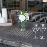 На фото: Обідній стіл Zenica (20916), Столи зі штучного ротангу Garden4You, каталог, ціна