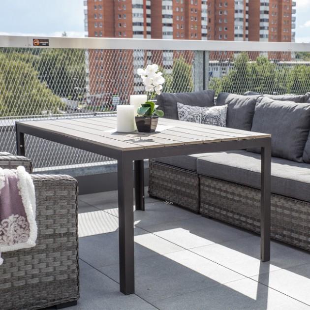 На фото: Обідній стіл Monta (21027), Столи зі штучного ротангу Garden4You, каталог, ціна