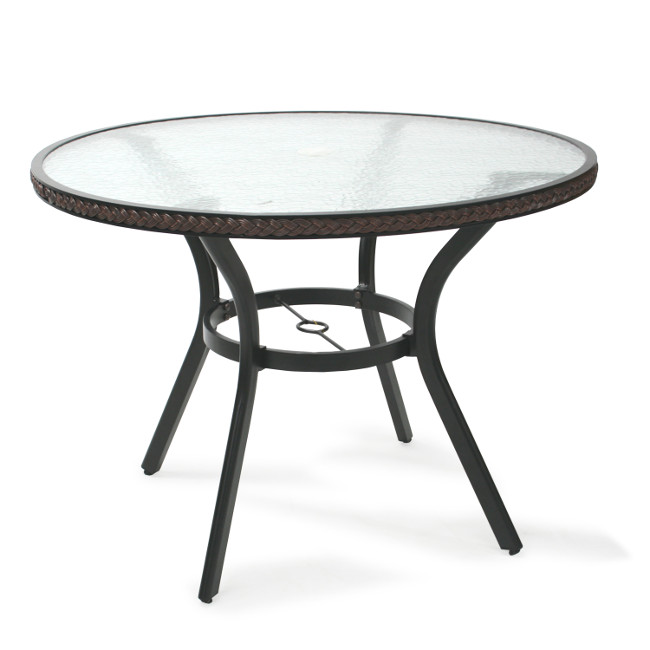 На фото: Круглый стол Solar (21058), Столи зі штучного ротангу Garden4You, каталог, ціна