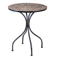 На фото: Круглий стіл Mosaic (38664), Круглі столи Garden4You, каталог, ціна