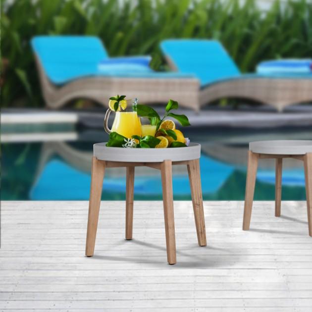На фото: Столик Sandstone (72516), Кавові столики Garden4You, каталог, ціна