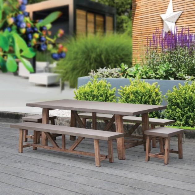 На фото: Стіл Sandstone (72525), Великі столи Garden4You, каталог, ціна