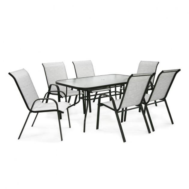 На фото: Обідній стіл Dublin (11871), Вуличні столи Garden4You, каталог, ціна