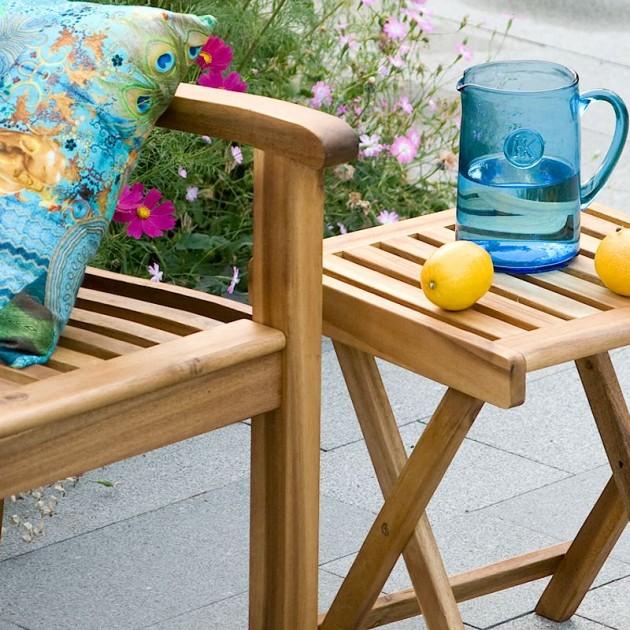 На фото: Допоміжний столик Finlay (13174), Дерев'яні столи Garden4You, каталог, ціна