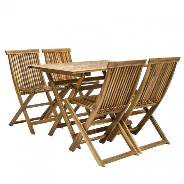 На фото: Столовий комплект Finlay (k13180), Столові комплекти з дерева Garden4You, каталог, ціна