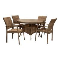 На фото: Столовий комплект Wicker (k11972), Столові комплекти зі штучного ротангу Garden4You, каталог, ціна