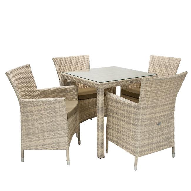 На фото: Столовий комплект Wicker (k13345), Столові комплекти зі штучного ротангу Garden4You, каталог, ціна