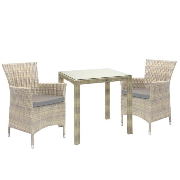 На фото: Столовий комплект Wicker Beige (k133451), Столові комплекти зі штучного ротангу Garden4You, каталог, ціна