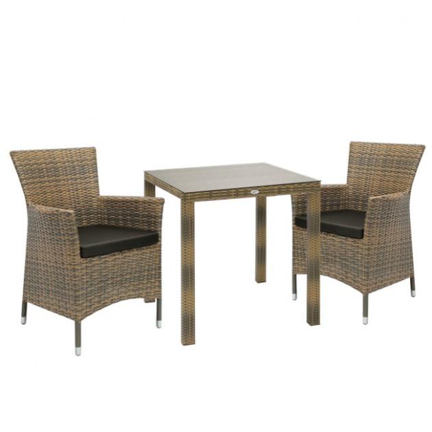 На фото: Столовий комплект Wicker Cappuccino (k133471), Столові комплекти зі штучного ротангу Garden4You, каталог, ціна