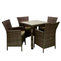 На фото: Столовий комплект Wicker (k13348), Столові комплекти зі штучного ротангу Garden4You, каталог, ціна