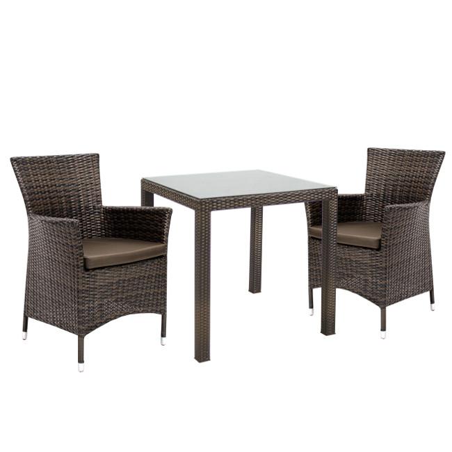 На фото: Столовий комплект Wicker (k133481), Столові комплекти зі штучного ротангу Garden4You, каталог, ціна