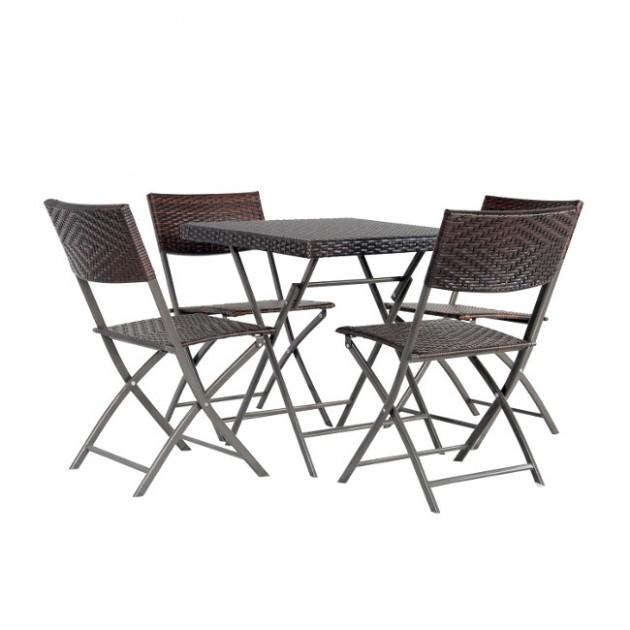 На фото: Столовий комплект Nico (k20572), Комплекти для балкону Garden4You, каталог, ціна