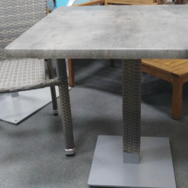 На фото: Квадратний стіл Larache (k20918), Квадратні столи Garden4You, каталог, ціна