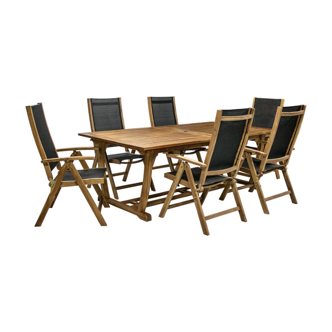 На фото: Столовий комплект Future (k27821), Столові комплекти з дерева Garden4You, каталог, ціна