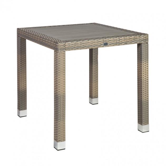 На фото: Квадратний стіл Larache (21040), Столи зі штучного ротангу Garden4You, каталог, ціна