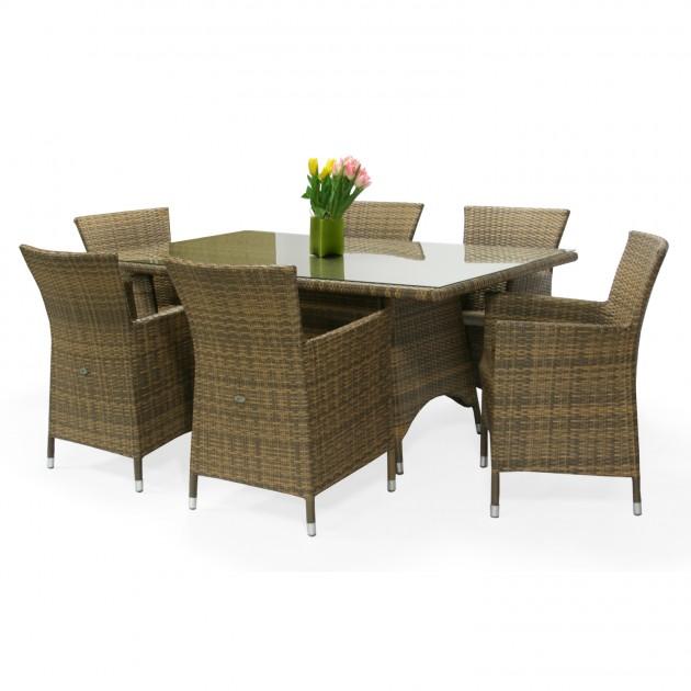 На фото: Столовий комплект Wicker (k13332), Столові комплекти зі штучного ротангу Garden4You, каталог, ціна