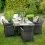 На фото: Столовий комплект Wicker Dark Brown (k12699), Столові комплекти зі штучного ротангу Garden4You, каталог, ціна