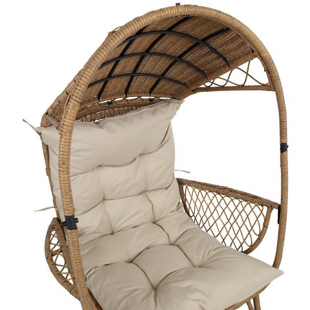 На фото: Лаунж-крісло Tanja Beige (12306), Крісла зі штучного ротангу Garden4You, каталог, ціна