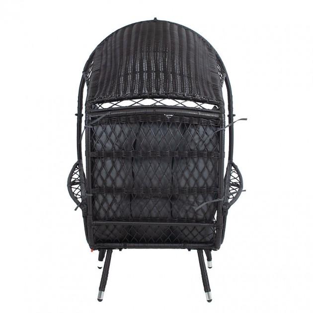 На фото: Лаунж-крісло Tanja Dark Bown (12306), Крісла зі штучного ротангу Garden4You, каталог, ціна