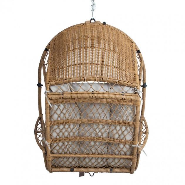 На фото: Підвісне крісло Tanja Beige (12308), Крісла зі штучного ротангу Garden4You, каталог, ціна