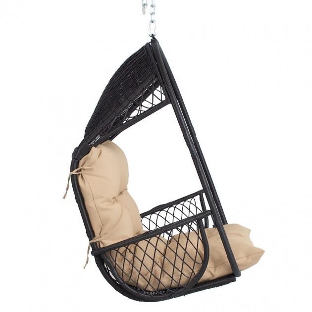 На фото: Підвісне крісло Tanja Dark Bown (12309), Крісла зі штучного ротангу Garden4You, каталог, ціна