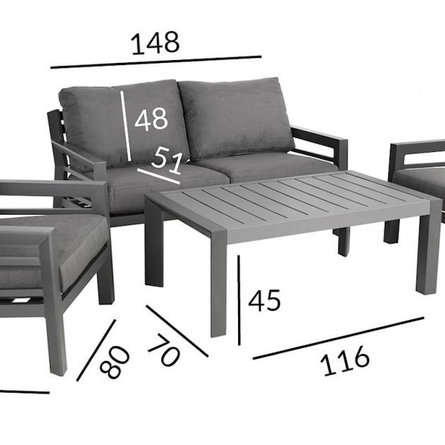 На фото: Комплект для відпочинку Tomson (13707), Диванні комплекти для відпочинку Garden4You, каталог, ціна