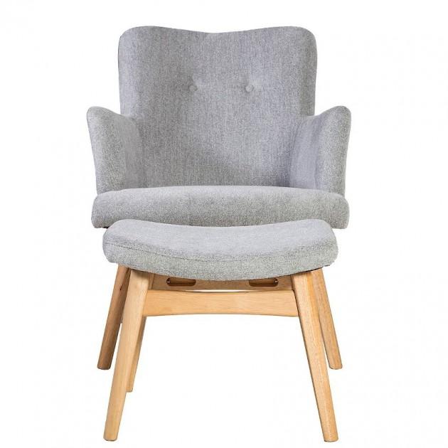 На фото: Крісло з підставкою для ніг Civic (20823), М'які крісла Home4You, каталог, ціна