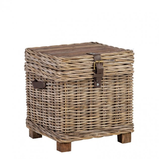 На фото: Плетений столик-скриня Egros (42022), Допоміжні столики Home4You, каталог, ціна