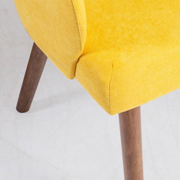 На фото: Крісло Eleanor Yellow (20782), М'які крісла Home4You, каталог, ціна