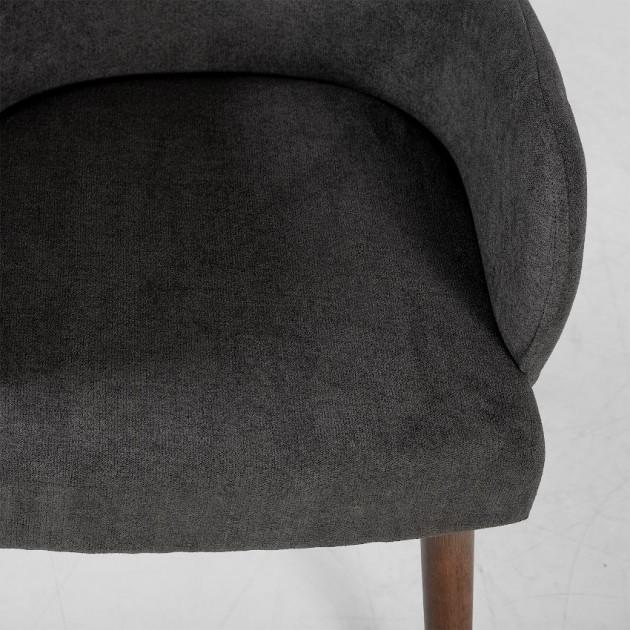 На фото: Крісло Eleanor Dark Grey (20784), М'які крісла Home4You, каталог, ціна