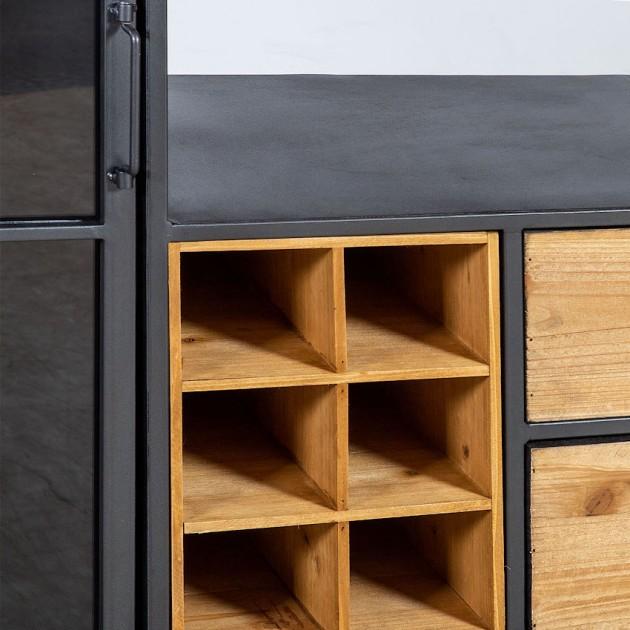 На фото: Комод для вина Ferro (84612), Комоди і вітрини Home4You, каталог, ціна