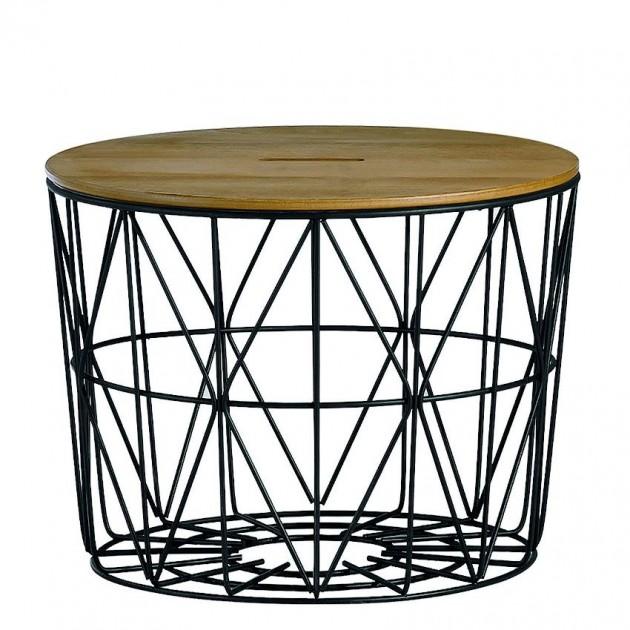 На фото: Придиванний столик Helena (20079), Допоміжні столики Home4You, каталог, ціна