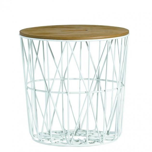 На фото: Придиванний столик Helena (20080), Допоміжні столики Home4You, каталог, ціна