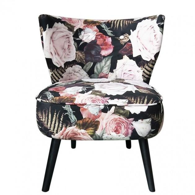 На фото: М'яке крісло La Perla Flowers (84601), М'які крісла Home4You, каталог, ціна