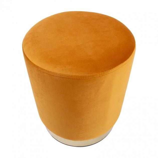 На фото: Пуфик La Perla Yellow (87671), Пуфи Home4You, каталог, ціна