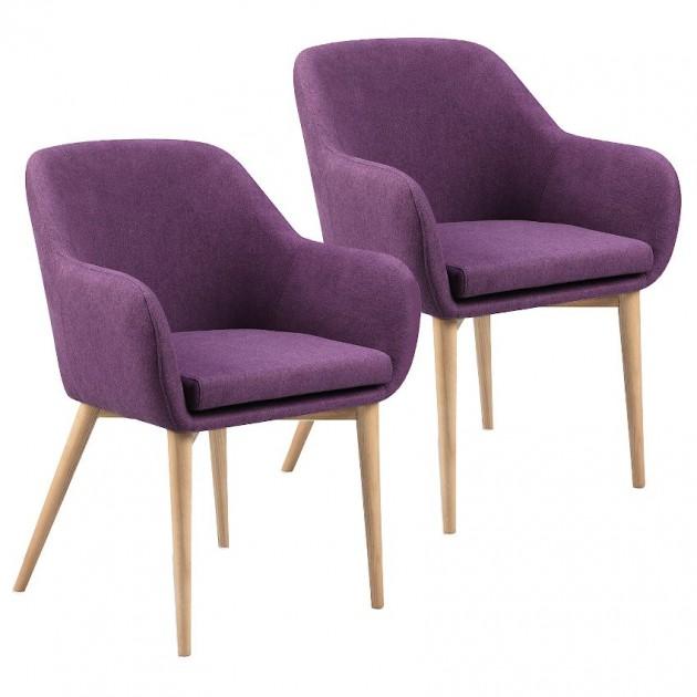 На фото: Крісло Monica Violet (k20225), М'які крісла Home4You, каталог, ціна