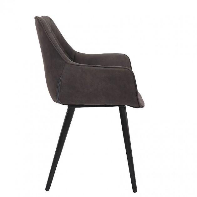 На фото: Стілець Naomi Dark Grey (37049), М'які стільці Home4You, каталог, ціна