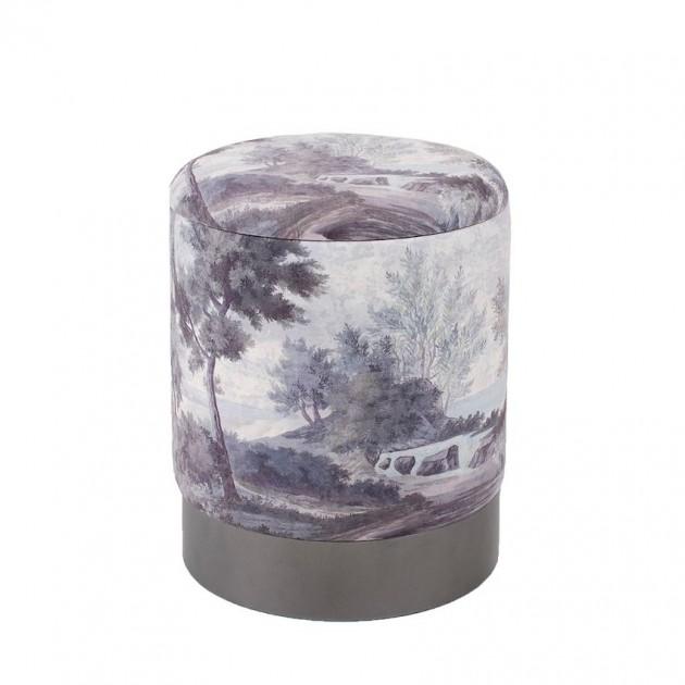 На фото: Пуфик Porta Grey (86702), Пуфи Home4You, каталог, ціна