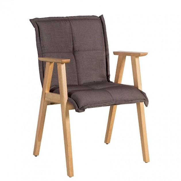 На фото: Стілець з підлокітниками Razor Brown (k20867), М'які стільці Home4You, каталог, ціна