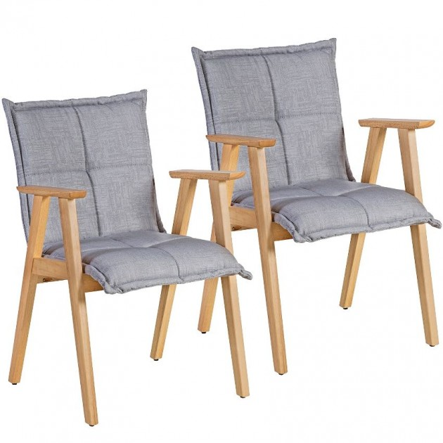 На фото: Стілець з підлокітниками Razor Light Grey (k20868), М'які стільці Home4You, каталог, ціна