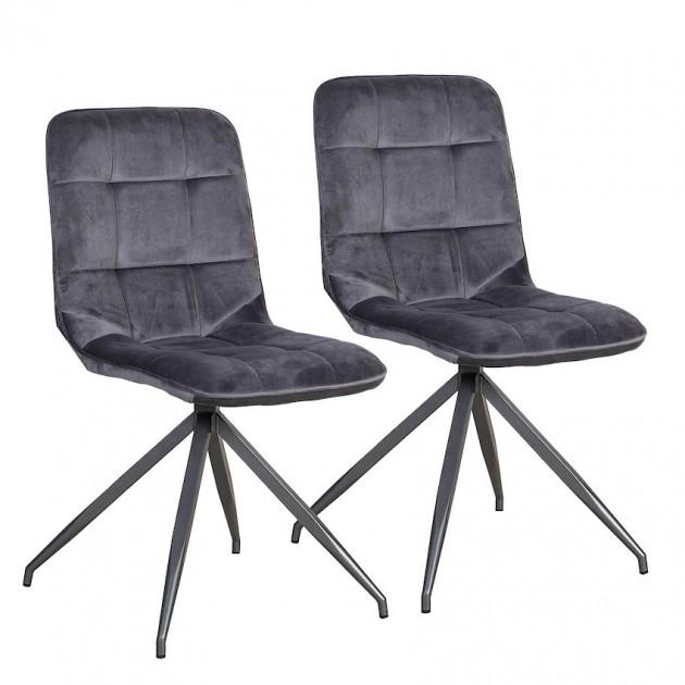 На фото: Стілець Rimini Dark Grey (k10284), М'які стільці Home4You, каталог, ціна