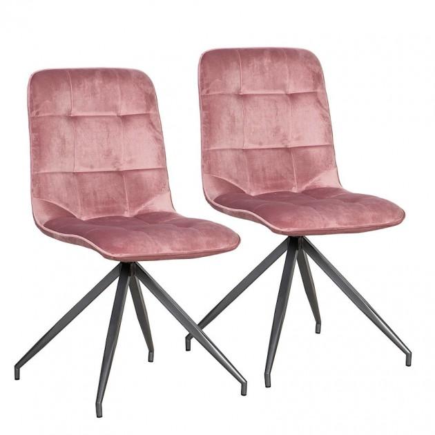 На фото: Стілець Rimini Pink (k10285), М'які стільці Home4You, каталог, ціна