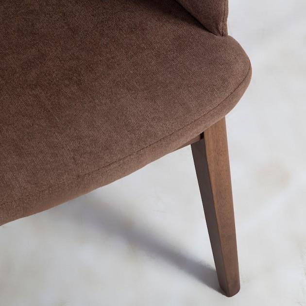 На фото: Крісло Salute Brown (20796), М'які крісла Home4You, каталог, ціна