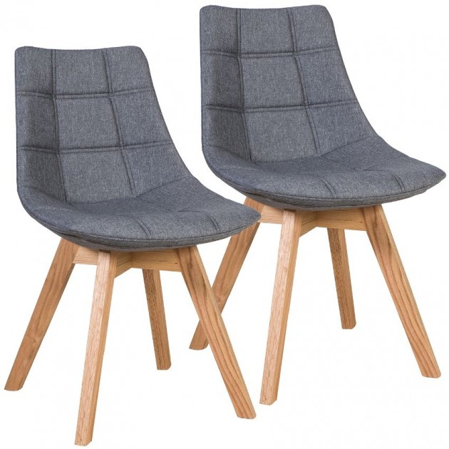 На фото: Стілець Sanders Grey (k37037), М'які стільці Home4You, каталог, ціна