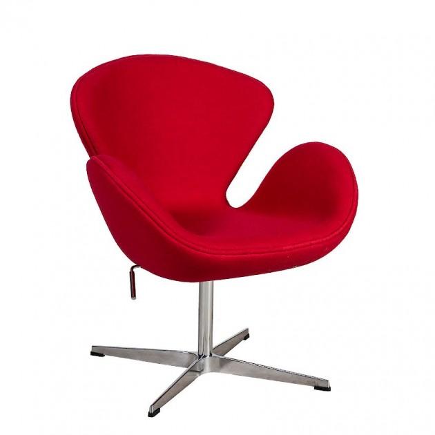 На фото: Крісло Swan Red (39021), М'які крісла Home4You, каталог, ціна